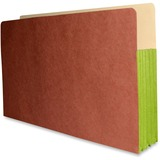 "Fibre-Guard Expandable File Pockets 9 1/2""H x 14 3/4""W with 5 1/4"" Fully Reinforced Green Tyvek Gusset, Fibre-Guard Pocket, Recycled, 10% PCW, 25/CT"