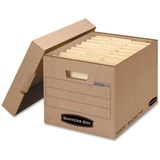 "Bankers Box Mystic Box Internal Dimensions: 12"" Width x 15"" Depth x 10"" Height - 200 lb - Media Size Supported: Letter, Legal - Lid Lock Closure - Double Wall - Kraft - Recycled - 25 / Carton"