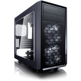 Fractal Design Focus G Computer Case with Side Window - Mid-tower - Black - 5 x Bay - 2 x 4.72IN x Fan(s) Installed - (FD-CA-FOCUS-BK-W)
