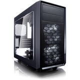 Fractal Design Focus G Computer Case with Side Window - Mini-tower - Black - 5 x Bay - 2 x 4.72IN x Fan(s) Installed (FD-CA-FOCUS-MINI-BK-)