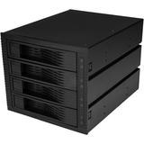 StarTech.com 4 Bay 3.5in SATA SAS Backplane - Hot Swap Mobile Rack for 3 5.25in Bays - Trayless - HDD Rack - SAS Back (HSB43SATSASB)