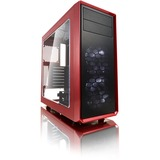 Fractal Design Focus G Computer Case with Windowed Side Panel - Mid-tower - Mystic Red - Steel - 5 x Bay - 2 x 4.72IN (FD-CA-FOCUS-RD-W)