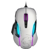 Roccat Kone AIMO - RGBA Smart Customization Gaming Mouse - Optical - Cable - White - USB 2.0 - 12000 dpi - Scroll Whe (ROC-11-815-WE)