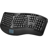 Adesso Tru-Form 4500 - 2.4GHz Wireless Ergonomic Touchpad Keyboard - Wireless Connectivity - RF - USB Interface - 105 (WKB-4500UB)