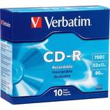 Verbatim CD-R 700MB 52X with Branded Surface - 10pk Slim Case - 52X - 700MB - 10pk Slim Case