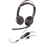 Plantronics Blackwire 5200 Series USB Headset - Stereo - USB, Mini-phone - Wired - Over-the-ear - Binaural - Supra-au (207576-01)