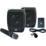 SMK-Link GoSpeak! Duet Wireless Portable PA System with Wireless Microphones (VP3450) - Weighs less than 5 pounds | C (VP3450)