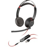 Plantronics Blackwire C5220 Headset - Stereo - USB Type A - Wired - 20 Hz - 20 kHz - Over-the-head - Binaural - Supra (207576-03)
