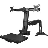StarTech.com Sit Stand Dual Monitor Arm - For Two Monitors up to 24in - Dual Monitor Mount - Sit Stand Workstation - (ARMSTSCP2)