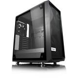Fractal Design Meshify C-TG Computer Case - Mid-tower - Black - Tempered Glass, Steel, Rubber - 5 x Bay - 2 x 4.72IN (FD-CA-MESH-C-BKO-TGL)