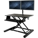 StarTech.com Dual Monitor Sit Stand Desk Converter - 35IN Wide - Height Adjustable Standing Desk Solution - Dual Arms (BNDSTSLGDUAL)