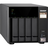 QNAP TS-473 SAN/NAS Storage System - AMD R-Series RX-421ND Quad-core (4 Core) 2.10 GHz - 4 x HDD Supported - 6 x SSD (TS-473-4G-US)