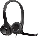 Logitech Wired USB Headset With Microphone - Stereo - Black - USB - Wired - 32 Ohm - 40 Hz - 13 kHz - Over-the-head - (981-000731)
