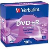 Verbatim DVD+R 4.7GB 16x 10pk Slim Case