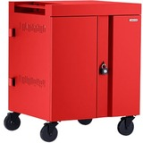 Bretford CUBE Cart 36, AC Charging, Red Paint - 2 Shelf - 4 Casters - Polypropylene, Steel - 30in Width x 26.5in Dept (U4QS6PE)