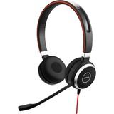 Jabra EVOLVE 40 MS Headset - Stereo - USB Type C - Wired - 32 Ohm - 150 Hz - 7 kHz - Over-the-head - Binaural - Supra (6399-823-189)