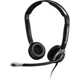 Open Box: Binaural Headset with Ultra Noise Canceling Boom Microphone - 46mm padded ear caps