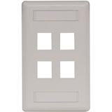 Hubbell 4-Socket IFP14OW Faceplate - 4 x Socket(s) - 1-gang - Office White