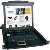 Tripp Lite 8-Port Rack Console KVM Switch w/ 17IN LCD PS/2 1U - 8 Computer(s) - 17IN LCD - 8 x SPDB-15 Keyboard/Mouse (B020-008-17)