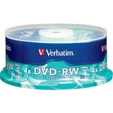 Verbatim 4.7 GB 4X Branded DVD-RW (30pk Spindle)