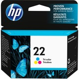 HP 22 Original Ink Cartridge - Single Pack - Inkjet - Standard Yield - 165 Pages - Color - 1 Each (C9352AN#140)