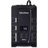 CyberPower Intelligent LCD CP600LCD 600 VA Desktop UPS - 600VA/340W - 2 Minute Full Load - 4 x NEMA 5-15R - Battery/S (CP600LCD)