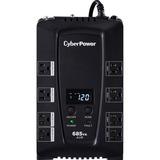 CyberPower Intelligent LCD CP685AVRLCD 685VA Desktop UPS - 685VA/390W - 2 Minute Full Load - 4 x NEMA 5-15R - Battery (CP685AVRLCD)