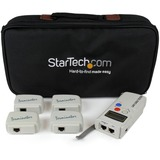 StarTech.com Professional RJ45 Network Cable Tester with 4 Remote Loopback Plugs - LAN Cable Tester Professional - Ne (LANTESTPRO)