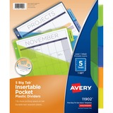 Avery 11902, Plastic Pocket Insertable Tab Dividers, AVE11902