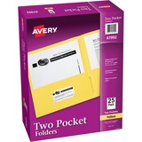 Avery 47992, Two-Pocket Folders w/o Fasteners, AVE47992