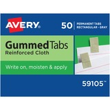 Avery 59105, Reinforced Cloth Gummed Index Tabs, AVE59105