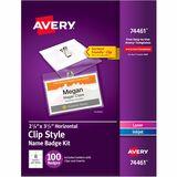 Avery Laser, Inkjet Print Laser/Inkjet Badge Insert
