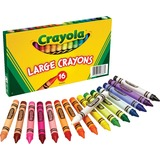 Crayola 52-0336 Crayon - Black, Blue, Brown, Green, Orange, Red, Violet, Yellow, Green Blue, Blue-violet, Carnation Pink, ... Wax - 16 / Box