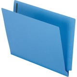 Esselte H10U13BL, Colored End Tab Folders w/ Fasteners, ESSH10U13BL