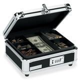 IdeaStream VZ01002 Vaultz Cash Box - Plastic - Chrome