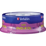 Verbatim AZO DVD+R DL 8.5GB 8X with Branded Surface - 20pk Spindle