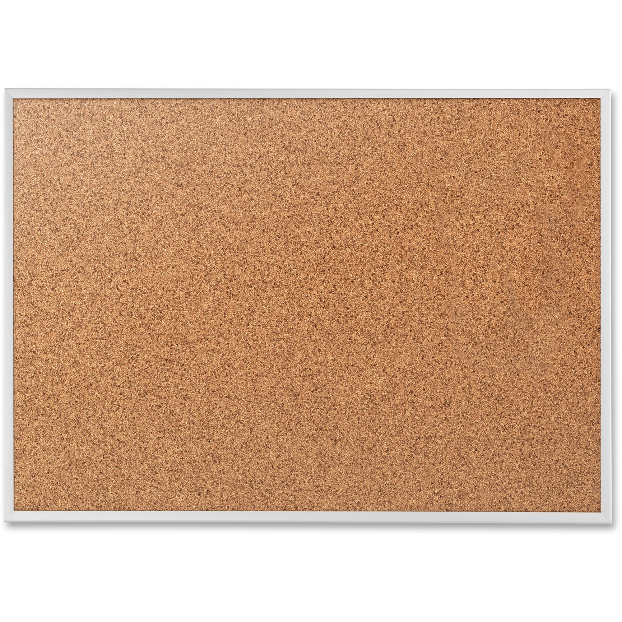 Acco Brands Corporation Quartet® Classic Cork Bulletin Board - 36 Height X 48 Width - Brown Natural Cork Surface - Silver Aluminum Frame - 1 Each
