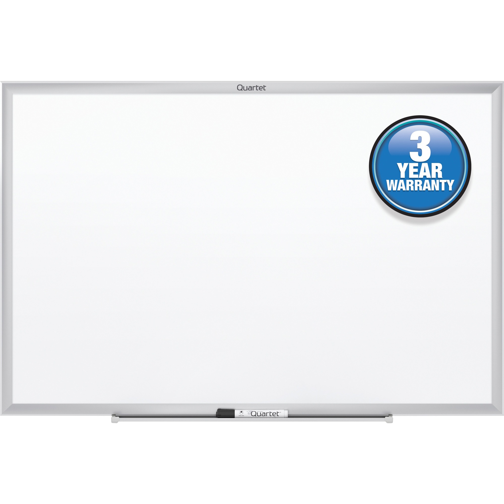 Acco Brands Corporation Quartet® Classic Whiteboard - 72 (6 Ft) Width X 48 (4 Ft) Height - White Melamine Surface - Silver Aluminum Frame - Horizontal/vertical - 1 Each - Taa Compliant