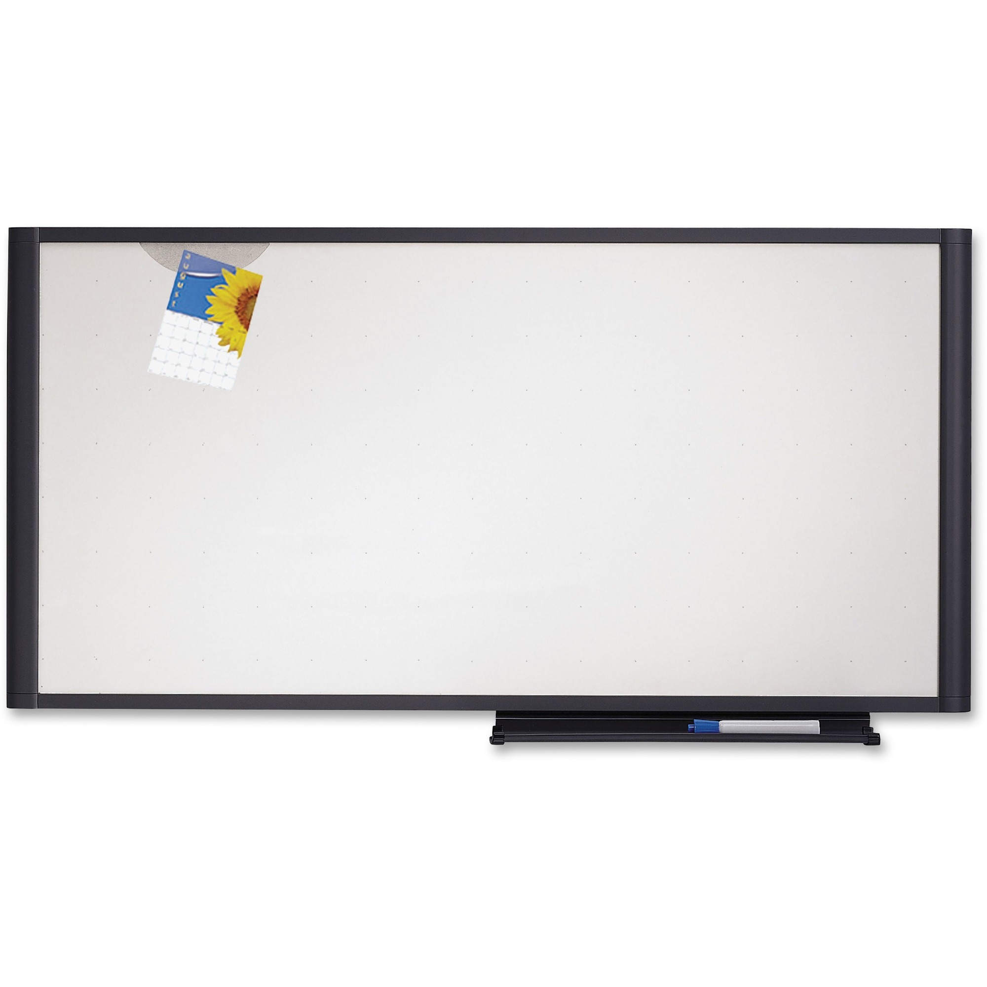 Acco Brands Corporation Quartet® Prestige® Total Erase®cubicle Whiteboard, 48 X 18, Graphite Frame, Writing Grid - 48 (4 Ft) Width X 18 (1.5 Ft) Height - White Surface - Graphite Frame - Horizontal - 1 / Each