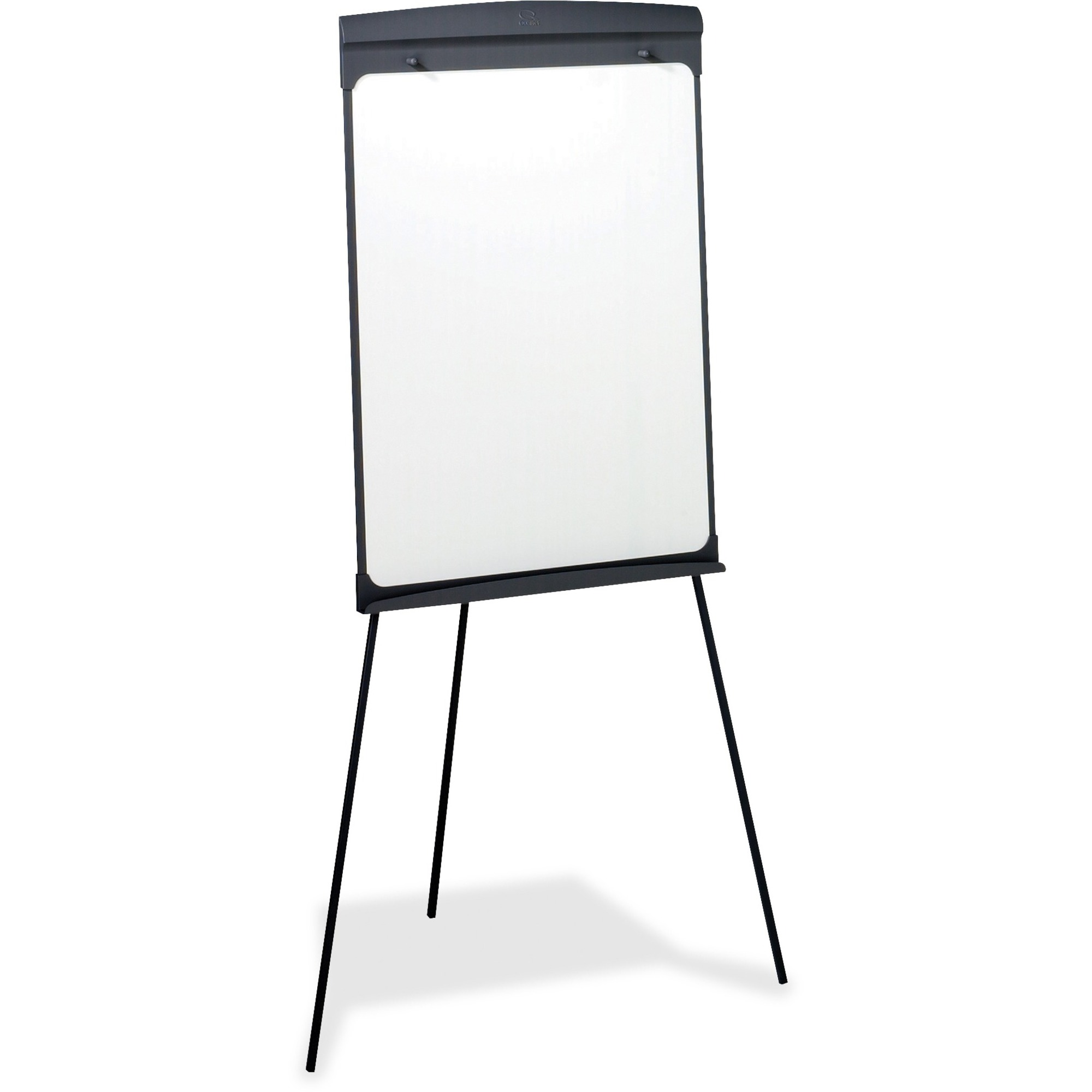 Acco Brands Corporation Quartet® Standard Presentation Easel, Magnetic Whiteboared/flipchart, 27 X 35, Graphite Finish Frame - 27 (2.2 Ft) Width X 35 (2.9 Ft) Height - White Painted Steel Surface - Graphite Frame - Vertical - 1 Each