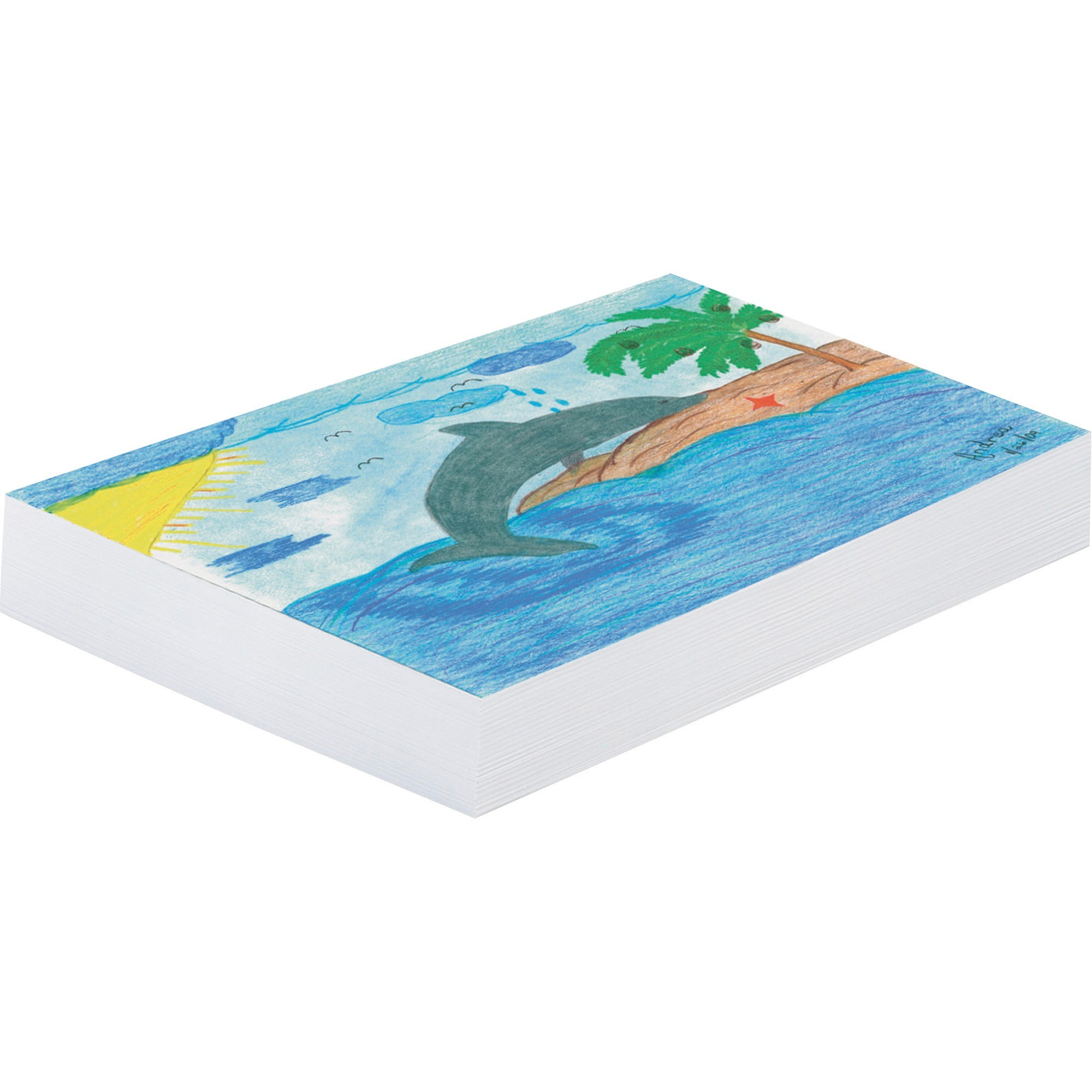 White 11 x 16 50 Sheets Pacon PAC73610 Finger Paint Paper