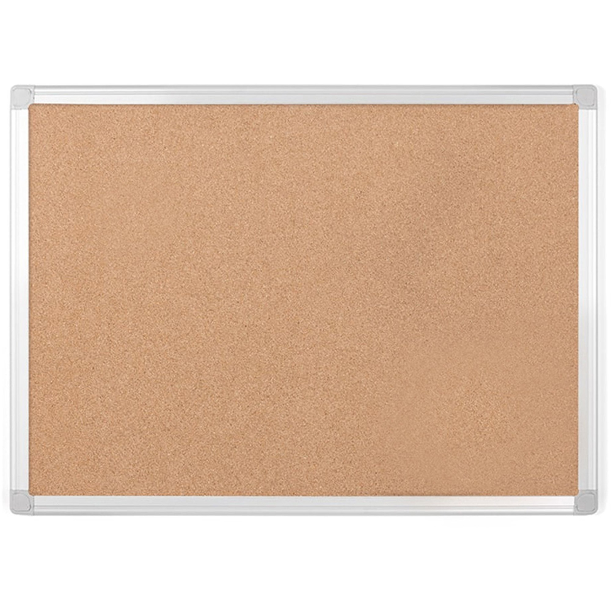 Bi-silque S.a Mastervision Aluminum Frame Recycled Cork Boards - 48 Height X 72 Width - Cork Surface - Aluminum Frame - 1 Each