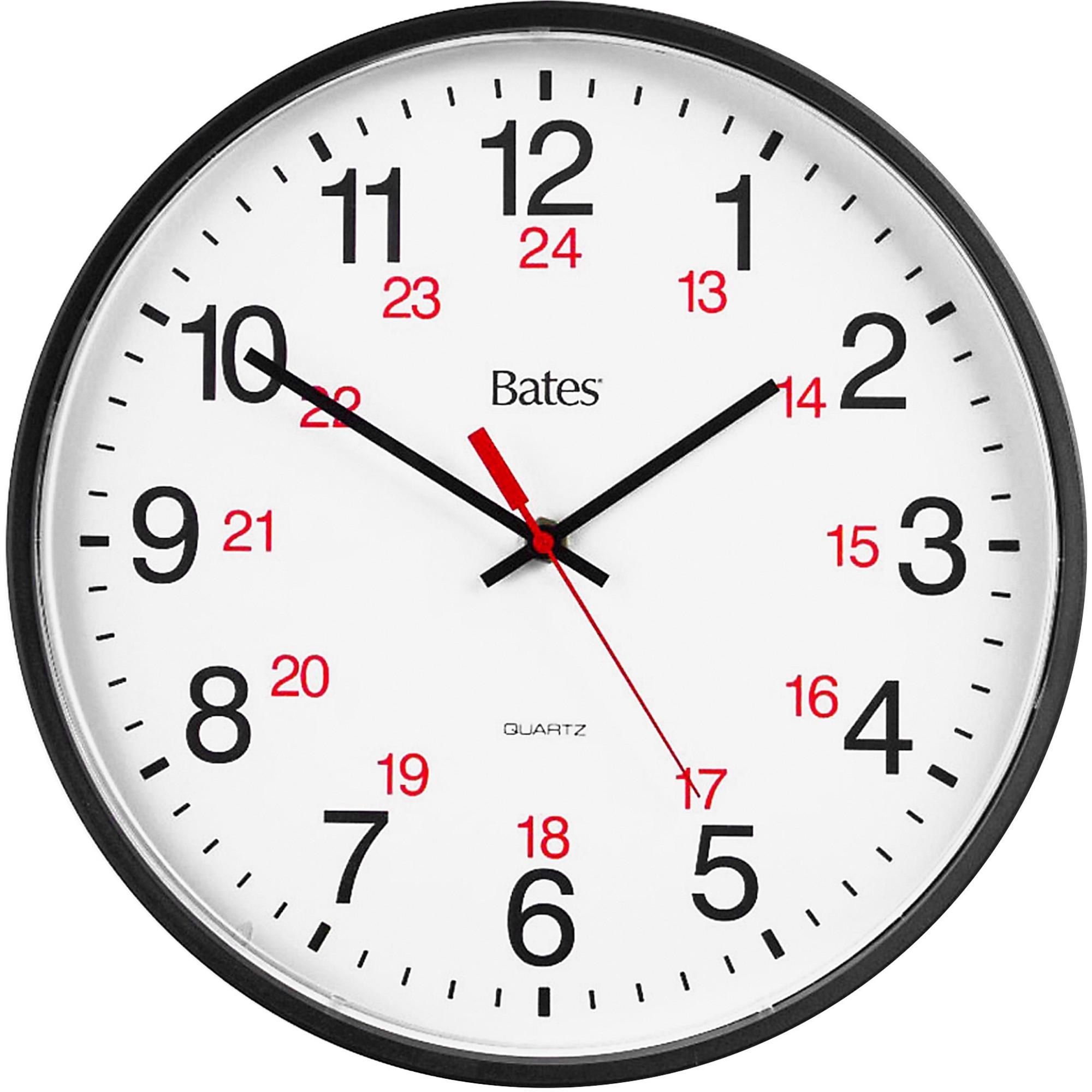 Gbc 9847027 Bates 12 24 Quartz Wall Clock Gbc9847027