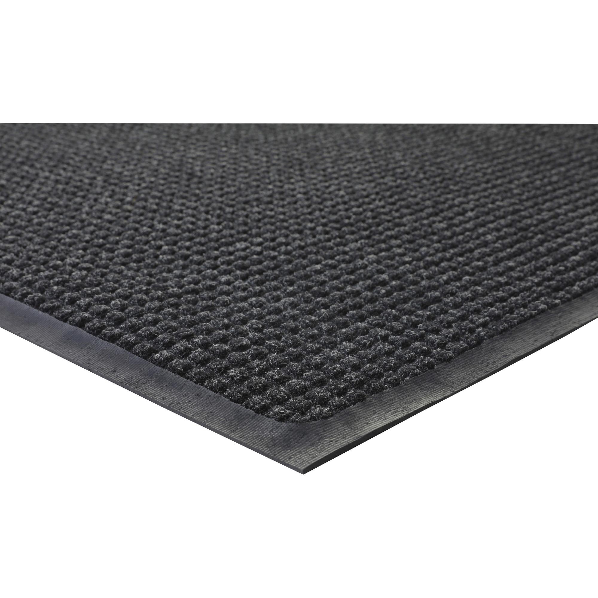 Genuine Joe Waterguard Indoor/outdoor Mats - Carpeted Floor, Hard Floor, Indoor, Outdoor - 60 Length X 36 Width - Rubber, Polypropylene - Charcoal Gray