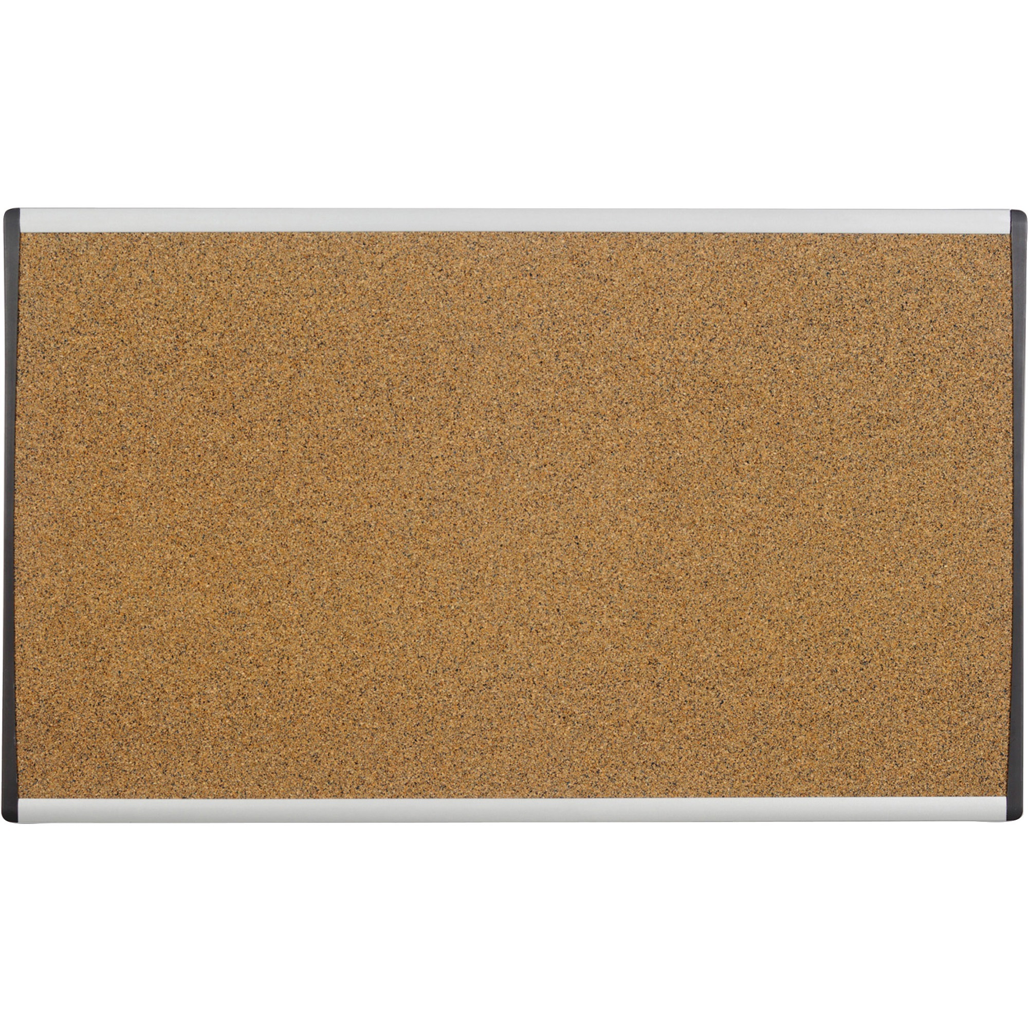 Acco Brands Corporation Quartet® Arc Cubicle Bulletin Board - 18 Height X 30 Width - Brown Natural Cork Surface - Silver Aluminum Frame - 1 / Each