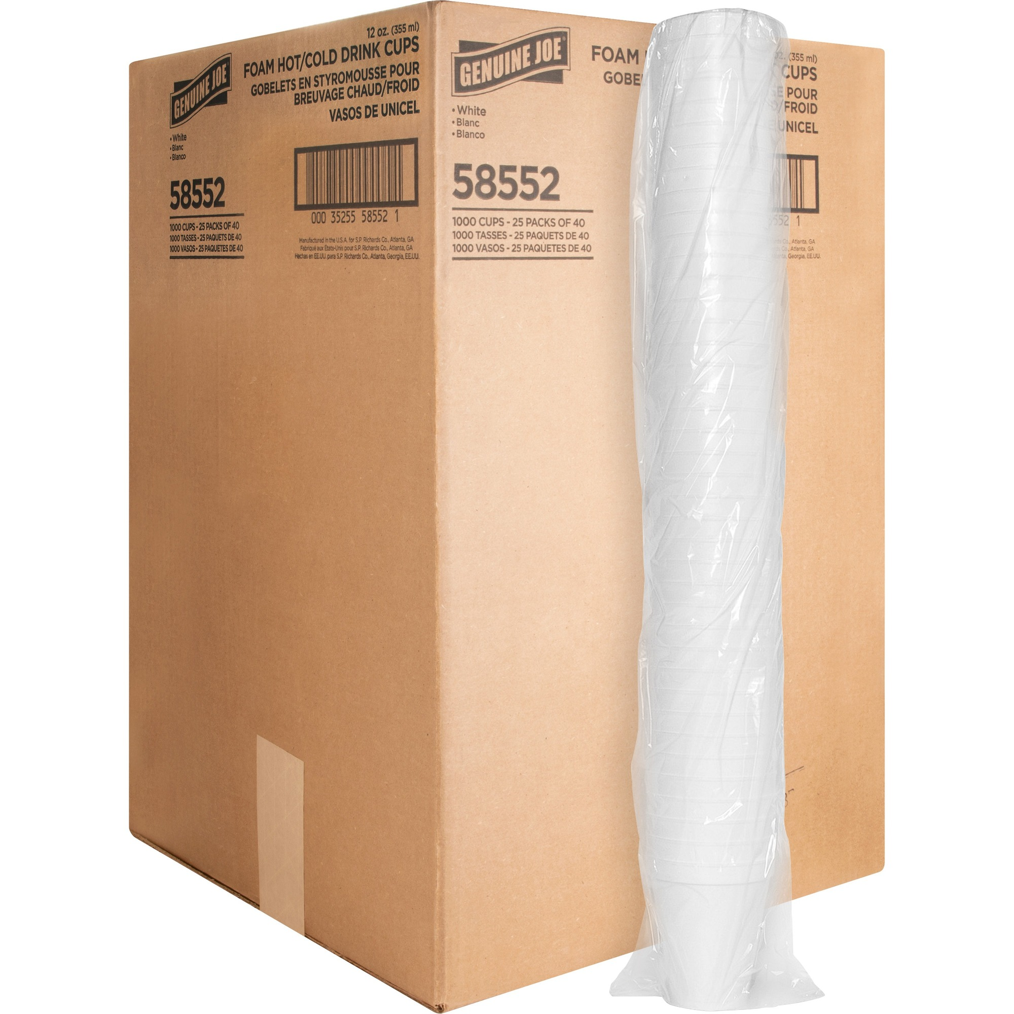 Cold 25 Bags//Carton Paper 200//Bag Cone Water Cups 4oz White