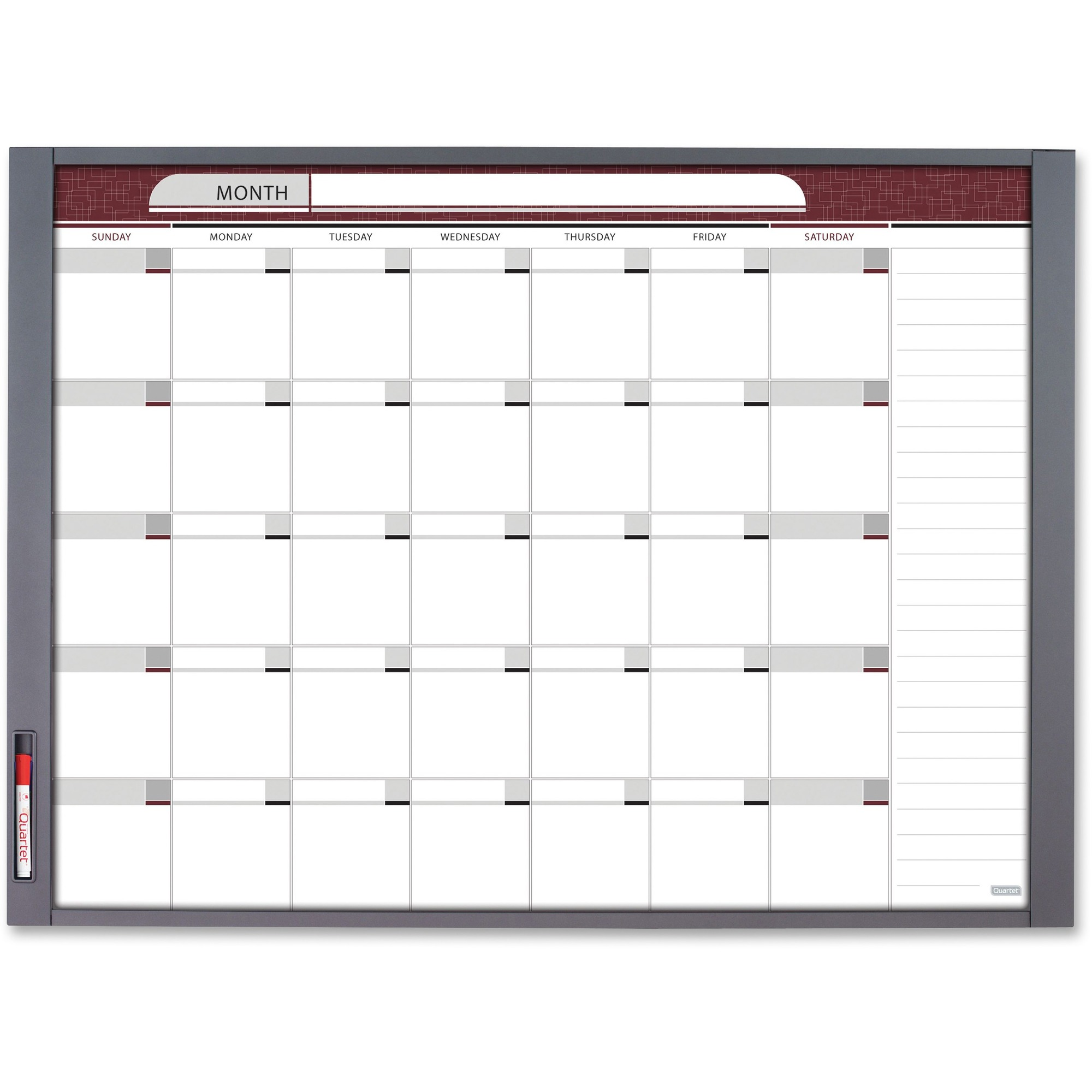 Acco Brands Corporation Quartet® Inview Custom Whiteboard - 47.5 (4 Ft) Width X 35 (2.9 Ft) Height - White Steel Surface - Graphite Frame - Rectangle - Horizontal/vertical - Assembly Required - 1 / Each