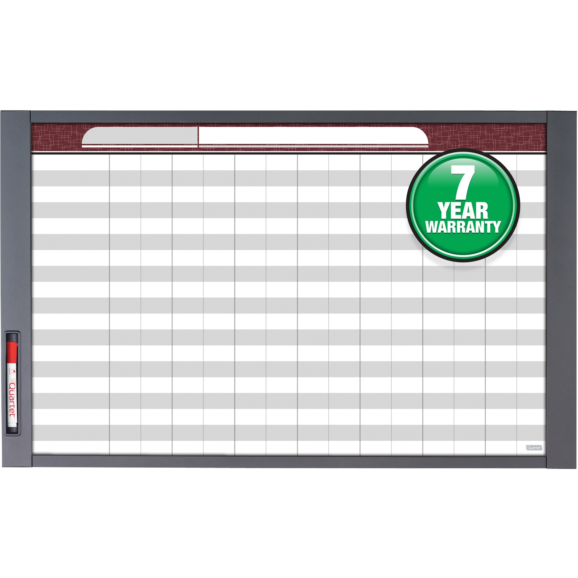 Acco Brands Corporation Quartet® Inview Custom Whiteboard - 37.5 (3.1 Ft) Width X 23 (1.9 Ft) Height - White Steel Surface - Graphite Frame - Rectangle - Horizontal/vertical - Assembly Required - 1 / Each