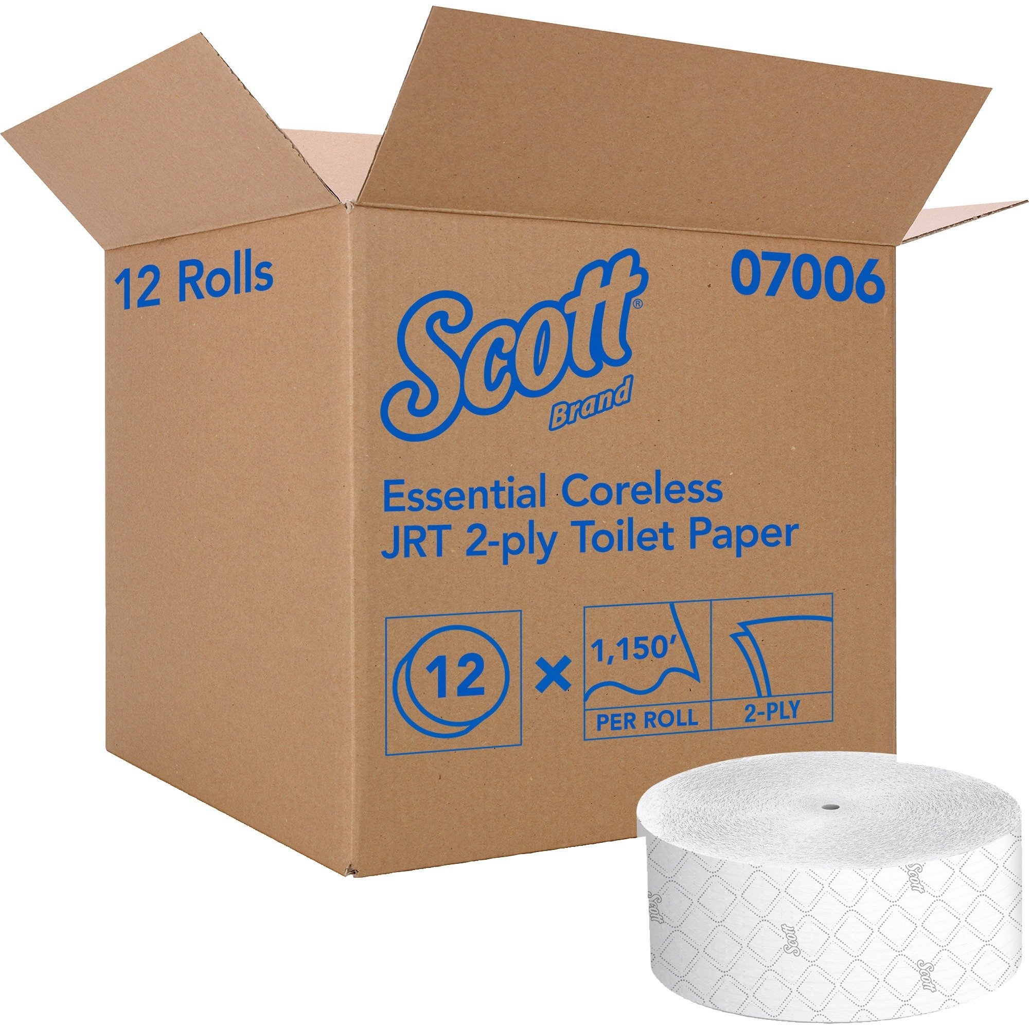 Scott Coreless Jumbo Roll Tissue
