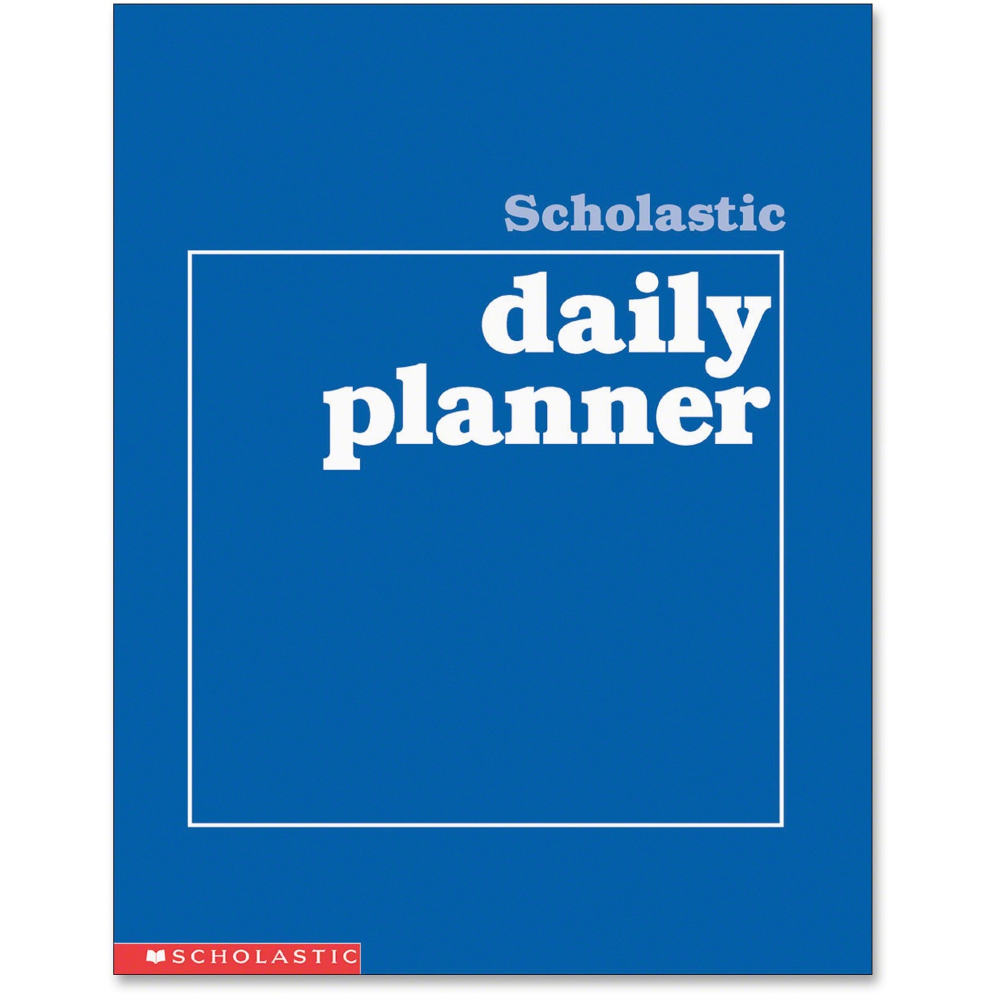 Scholastic Res. Grades K-6 Daily Planner - Academic - Daily, Weekly, Yearly - 8 1/2 X 11 White - Blue - Class Schedule